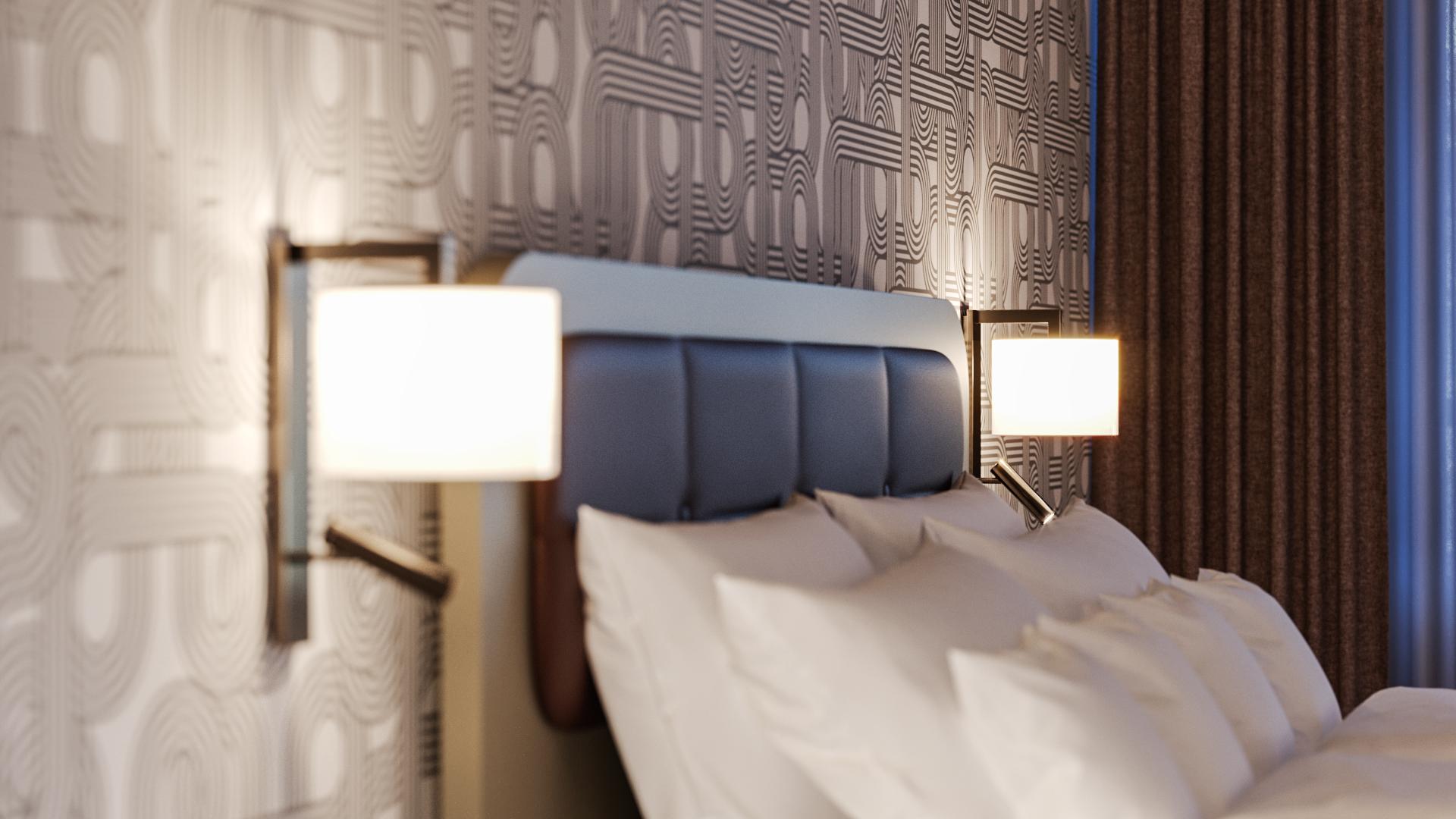 Detailshot Longstay Zimmer Hotel Walhalla