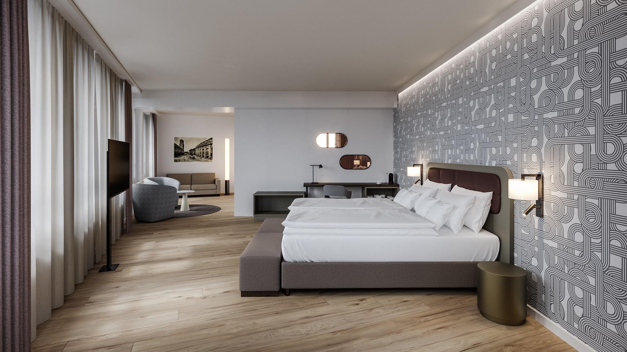 Junior Suite im Seminarhotel Walhalla in St. Gallen
