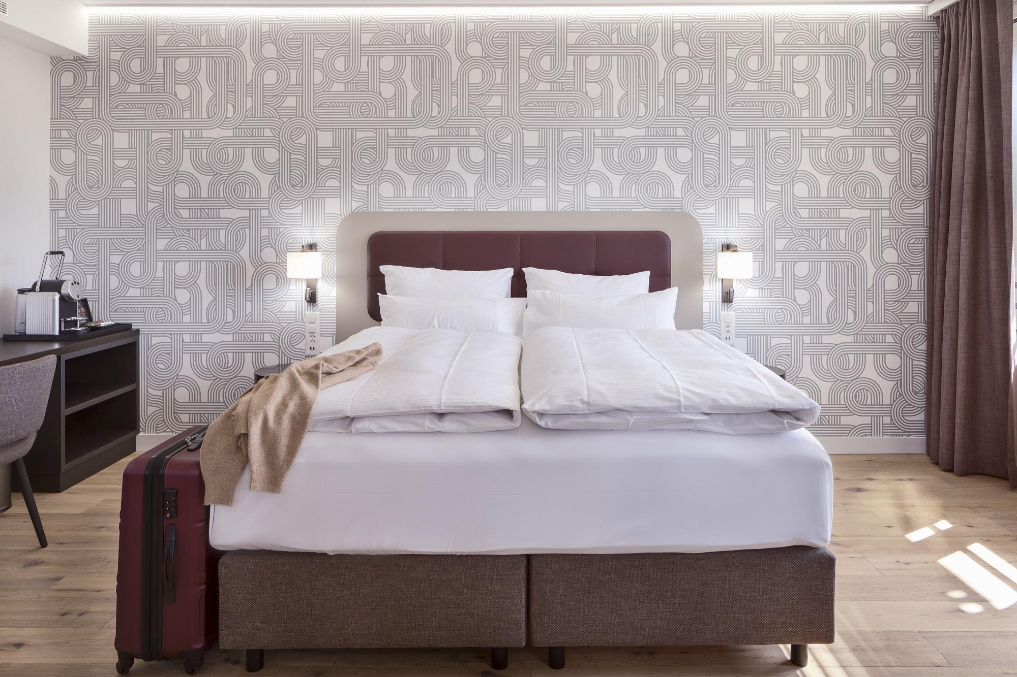Schlafzimmer der Junior Suite im Hotel Walhalla